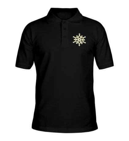 Рубашка поло Остроконечная снежинка свет