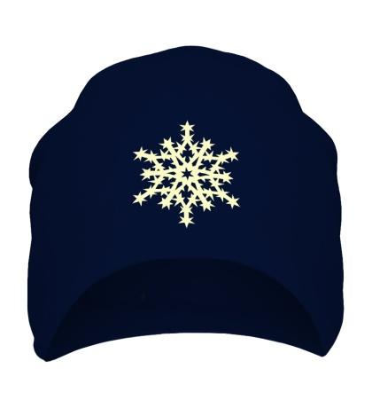 Шапка Остроконечная снежинка свет