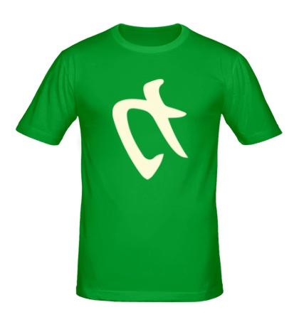 Мужская футболка Сила: иероглиф, свет