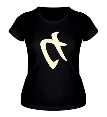 Женская футболка Сила: иероглиф, свет