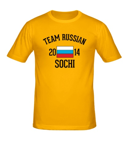 Мужская футболка Team russian 2014 sochi