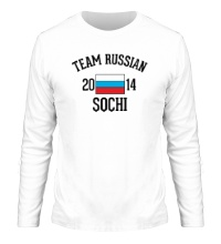 Мужской лонгслив Team russian 2014 sochi