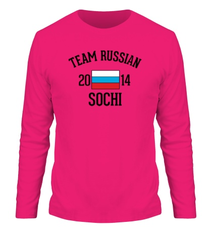 Мужской лонгслив Team russian 2014 sochi