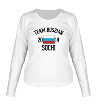 Женский лонгслив Team russian 2014 sochi