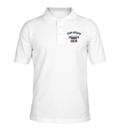 Рубашка поло Team russian 2014 sochi