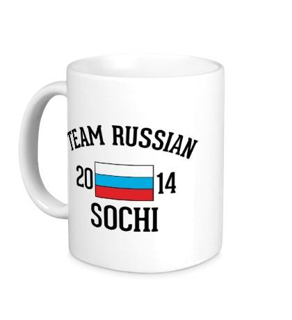 Керамическая кружка Team russian 2014 sochi