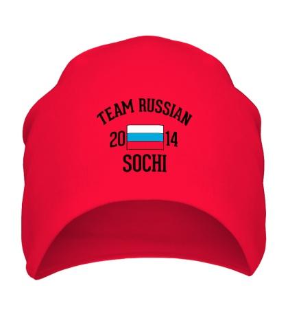 Шапка «Team russian 2014 sochi»