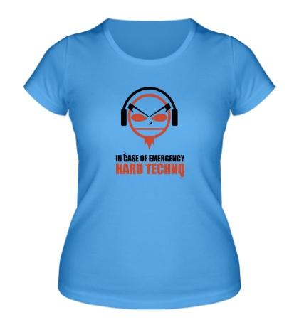 Женская футболка «Hard Techno»