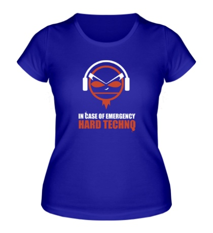 Женская футболка Hard Techno