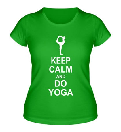 Женская футболка Do yoga