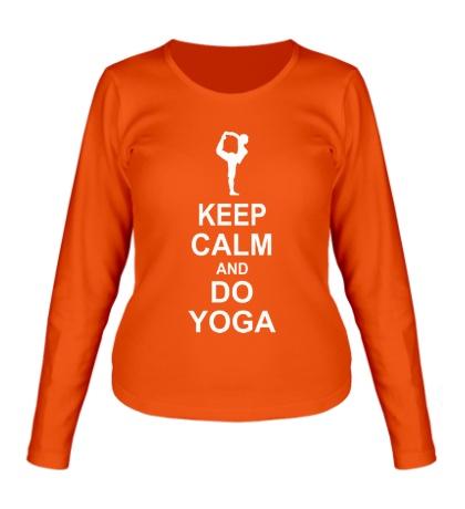 Женский лонгслив Do yoga