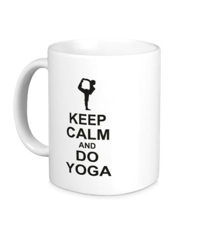 Керамическая кружка Do yoga
