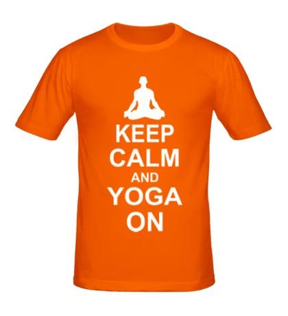 Мужская футболка Keep calm and yoga on