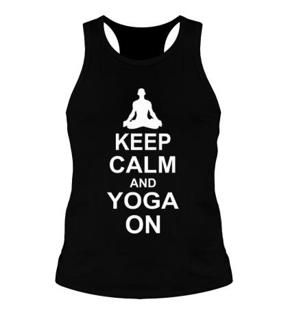 Мужская борцовка Keep calm and yoga on