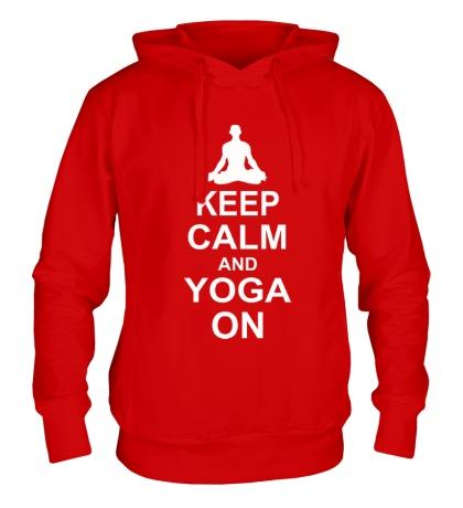 Толстовка с капюшоном Keep calm and yoga on