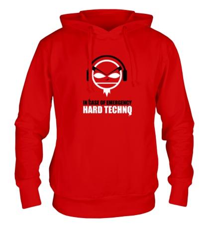 Толстовка с капюшоном Hard Techno