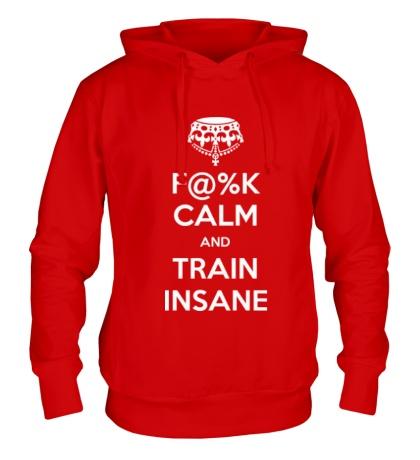 Толстовка с капюшоном F%K calm and train insane