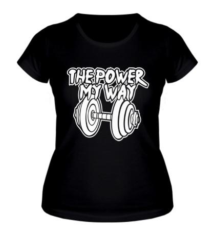 Женская футболка The power my may