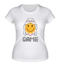 Женская футболка Game Over, для нее