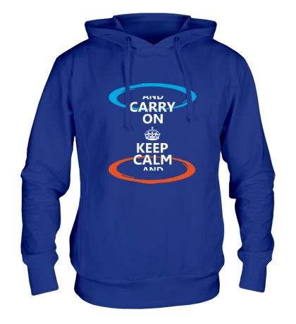 Толстовка с капюшоном Keep Calm & Portal On