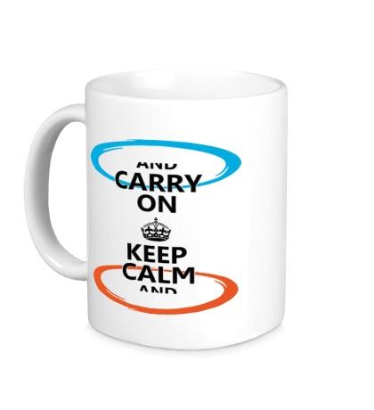 Керамическая кружка Keep Calm & Portal On