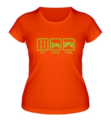 Женская футболка Eat, sleep, game