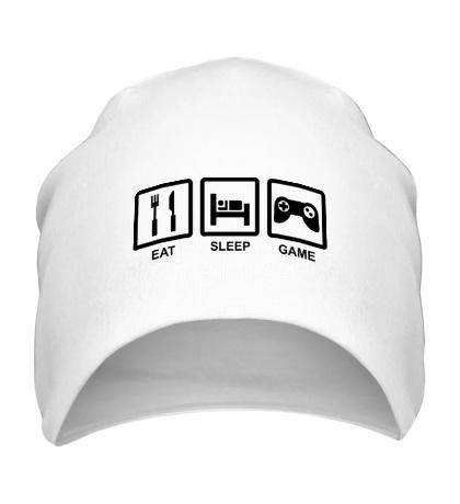 Шапка Eat, sleep, game