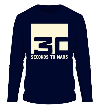 Мужской лонгслив 30 Seconds To Mars Logo Glow