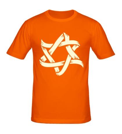 Мужская футболка Звезда Давида, свет