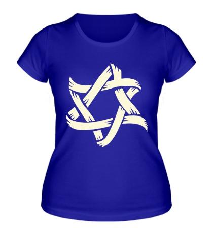 Женская футболка Звезда Давида, свет