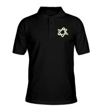 Рубашка поло Звезда Давида, свет