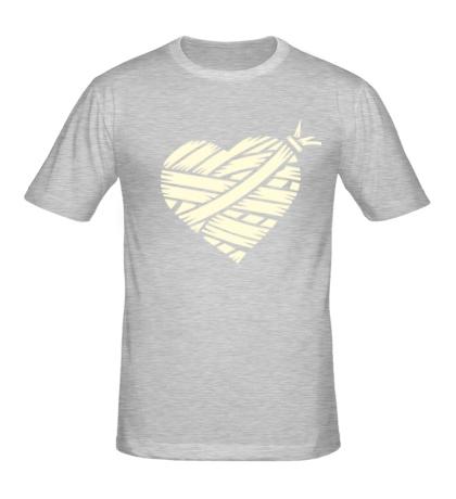 Мужская футболка Сердце glow