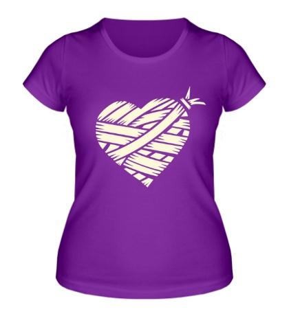 Женская футболка Сердце glow
