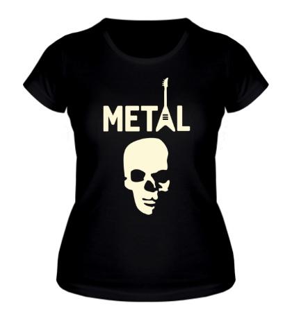 Женская футболка Hardcore Metal Glow