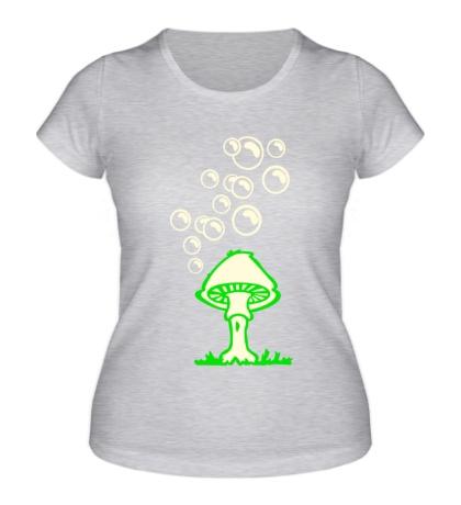 Женская футболка Гриб glow