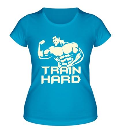 Женская футболка Train hard glow