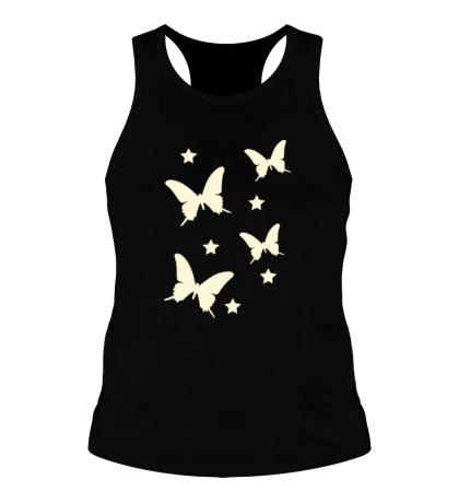 Мужская борцовка Светящиеся бабочки