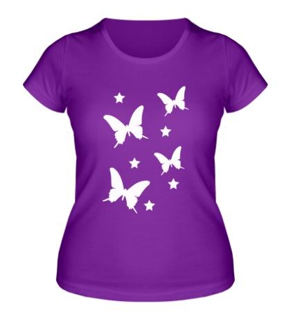 Женская футболка Волшебные бабочки