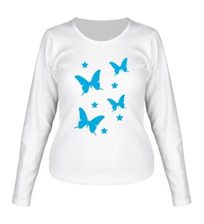 Женский лонгслив Волшебные бабочки