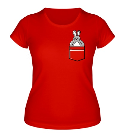 Женская футболка Карманный заяц