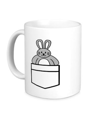 Керамическая кружка Карманный заяц