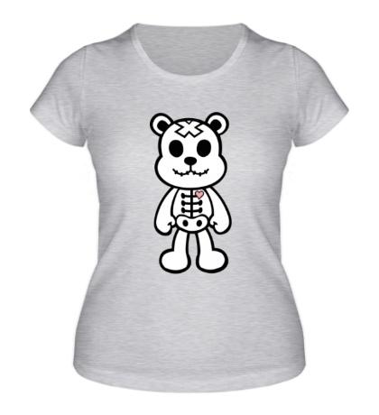 Женская футболка Медвежонок зомби