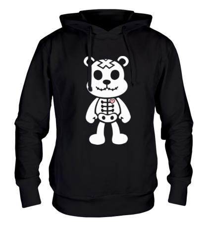 Толстовка с капюшоном Медвежонок зомби