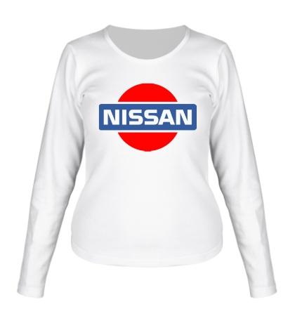 Женский лонгслив Nissan Logo