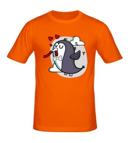 Мужская футболка Влюбленные птички, для него