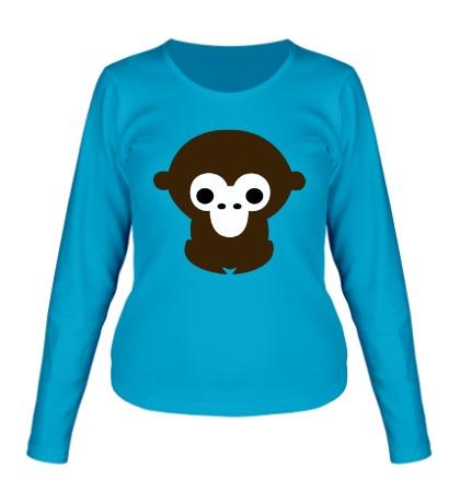 Женский лонгслив Маленькая обезьяна