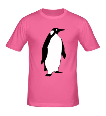 Мужская футболка Пингвин наблюдает