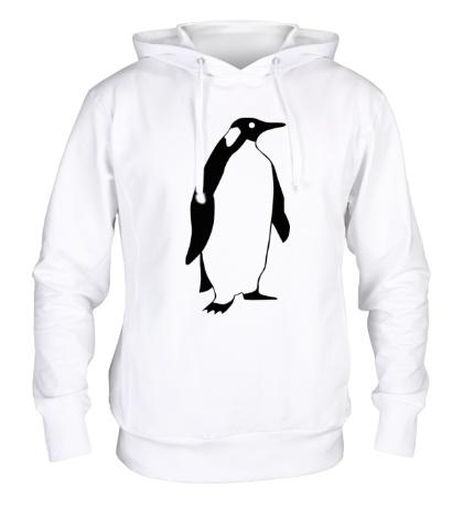 Толстовка с капюшоном Пингвин наблюдает