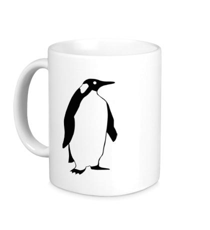 Керамическая кружка Пингвин наблюдает