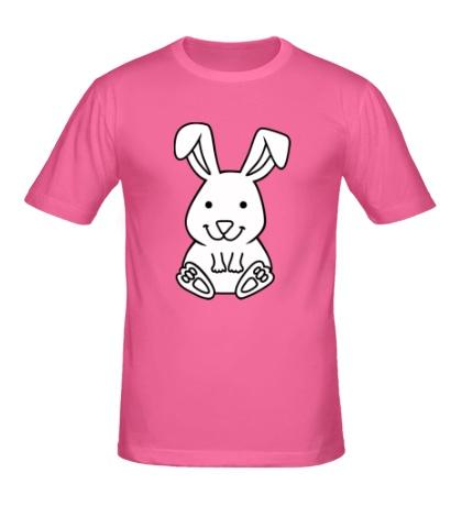 Мужская футболка Белый зайчик